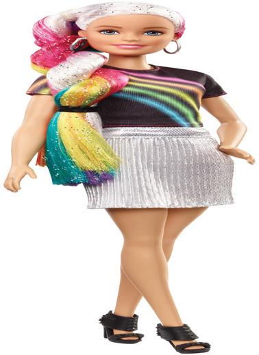 Barbie Barbie Gökkuşağı Renkli Saçlar Bebeği Renkli